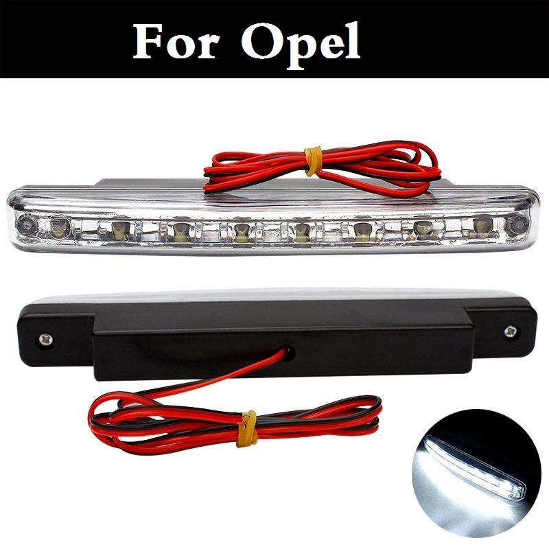 New 8 LED Car Daytime Running Lights DRL 12V Fog Lamp DC For Opel Insignia OPC Karl Mokka Signum Speedster Tigra Vectra OPC Vita for opel astra h gtc 2005 15 h11 wiring harness sockets wire connector switch 2 fog lights drl front bumper 5d lens led lamp