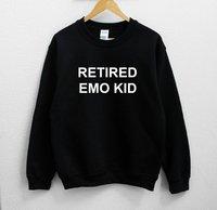 Sugarbaby Retired Emo Kid Unisex Sweatshirt Long Sleeve Fashion Casual Tops Crew Neck Unisex Fashion Sweatshirt Drop ship