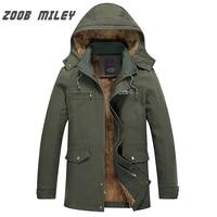 ZOOB MILEY Plus Size M 5XL Winter Jackets Men Warm Thick Fleece Hooded Parkas Loose Fit