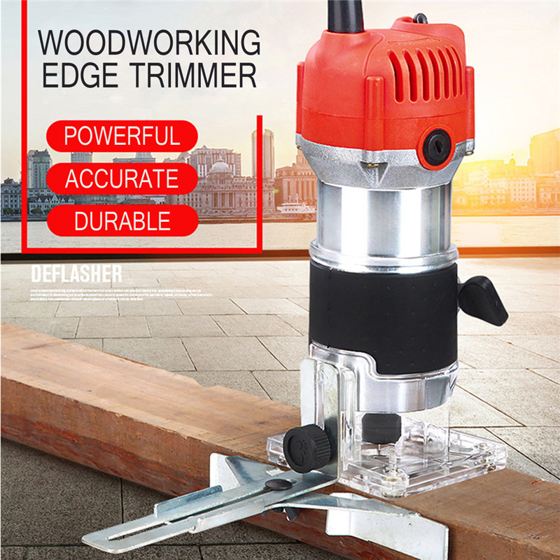 Reasonable Wood Electric Hand Trimmer 220v 800w 30000r/min Collet 6.35mm Au Plug Corded Wood Laminator Router Joiners Aluminum Power Tools In Pain