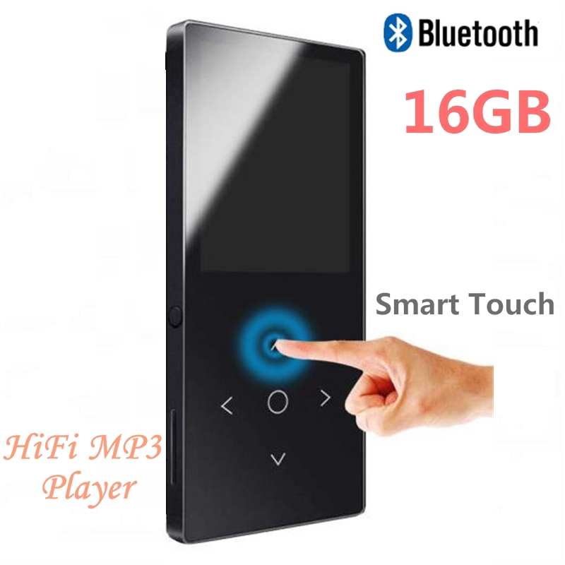 New 16GB Bluetooth 4.1 MP3 Music Player Touch key Ultra Thin 1.8 Inch Color Screen HiFi Quality Sound With FM, Voice Recorder