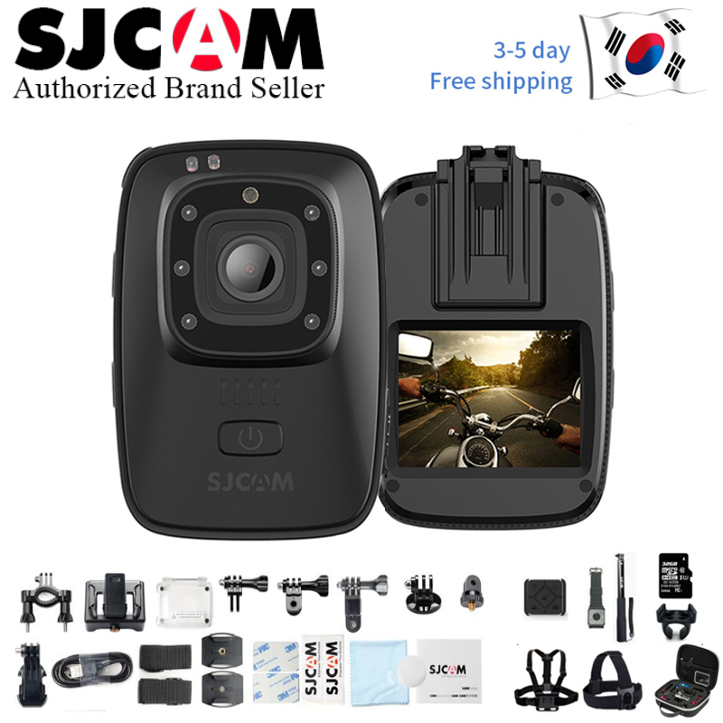 2019 New SJCAM A10 Portable Mini Camera IR Cut Night Vision Laser Positioning Action Camera Wearable Infrared Security Camera Sports & Action Video Camera     - title=