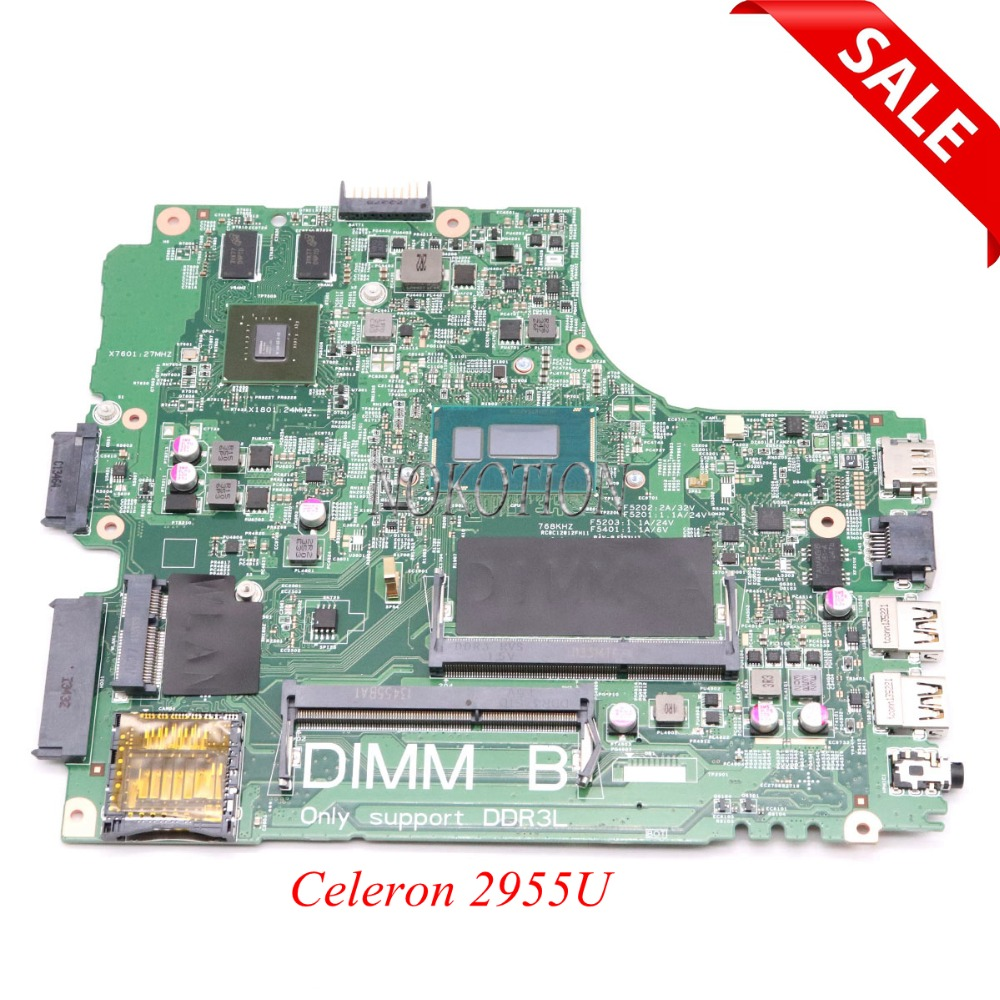 NOKOTION CN-0Y5JJK 0Y5JJK Y5JJK For Dell Inspiron 3437 5437 Laptop Motherboard VF0MH Celeron 2955U CPU onboard GeForce 720M shuohu 12307 2 for dell inspiron 3437 5437 laptop motherboard doe40 hsw gddr5 mb 12307 2 new motherboard i7 cpu gt750m