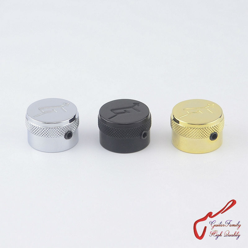 1 Piece GuitarFamily  Brass Metal Locking Control Knob For Electric  With G Arrow  ( #1208 ) MADE IN KOREA 1 piece guitarfamily metal knob abalone inlay for electric guitar bass made in korea 18mm 18mm 6 0mm 1254