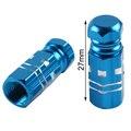 Aluminio 2X/un Juego de Tapas de Vástago de Válvula del Neumático de la Rueda de La Motocicleta Universal 27*8 nuevo azul