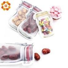 5 pçs/lote conveniente pe mason garrafas sacos nozes biscoitos doces lanches saco de plástico selado decoração para casa suprimentos de armazenamento