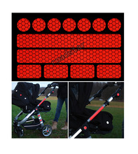 Hot sell reflective sticker 13 stickers for pushchairs bicycle helmets and more