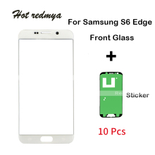 10pcs Original Touch Front Glass For Samsung Galaxy S6 Edge G925 G925F Touch Screen Front Outer Glass Lens Replacement Parts цена