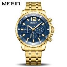 MEGIR Chronograph Quartz Men Watch Top Brand Luxury Army Mil