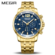 MEGIR Chronograph Quartz Men Watch Top Marca de Luxo Militar Do Exército Relógios de Pulso Homens Relógio Relogio masculino Relógio de Pulso de Negócios