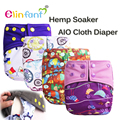 New! Elinfant  all in one baby diaper charcoal banboo hemp cloth diaper nappy fit 0-2 years #SMT028#
