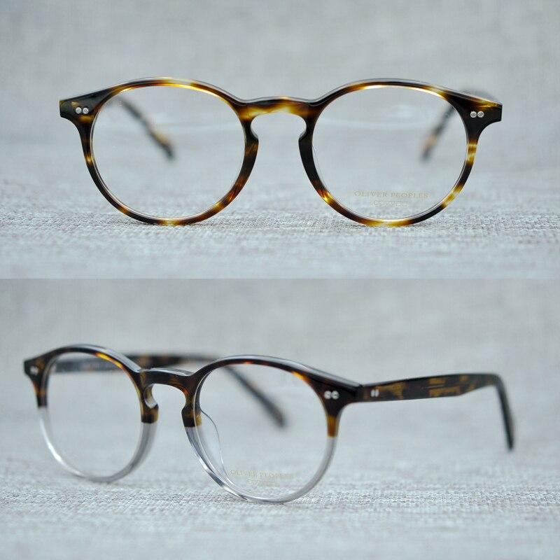 2018 nueva llegada Oliver Glaaase marcos mujer hombres calidad superior  redondo vendimia anteojos ópticos Oculos con el caso Original 0ad9c7a2f2