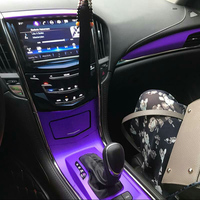For Cadillac ATS/ATSL Interior Central Control Panel Door Handle Carbon Fiber Stickers Decals Car styling Accessorie