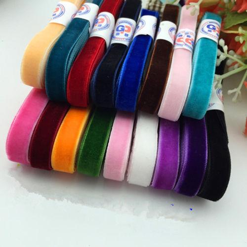 """DIY 5 ярдов 3/"""" 10 мм мягкая удобная бархатная лента много цветов на выбор - Цвет: Color mixing"""
