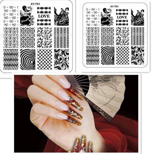rose gras liebe design acryl nagel stamper stamping platten muster schablonen fr ngel kunst vorlage werkzeuge - Acrylnagel Muster