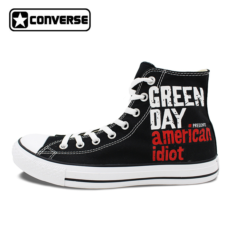 Sneakers Men Women Converse All Star Green Day Heart-Shaped Grenade Custom Design Hand Painted Shoes Men Women Birthday Gifts classic original converse all star minim musical note design hand painted shoes man woman sneakers men women christmas gifts