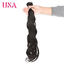 UNA Indian Hair Bundles 1 Piece Pack Natural Hair Indian Natural Wave Remy Hair Weft Human Hair Weave Bundles 8-26 inches