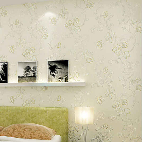 ФОТО beibehang papel parede Europe Non-woven Flower Design 3D Wall paper Pastoral Wallpapers Bedding Room Decor Mural Wall Paper roll