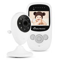 Wireless LCD Audio Video Baby Monitor Radio Nanny Music Intercom IR 24h Portable Baby Camera Baby Walkie Talkie Babysitter