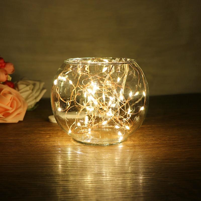 100 pièces 2 M 20 LED s LED étoilé chaîne lumières fée LED s fil de cuivre lumière décorative pour noël guirlande fête de mariage décoration - 3