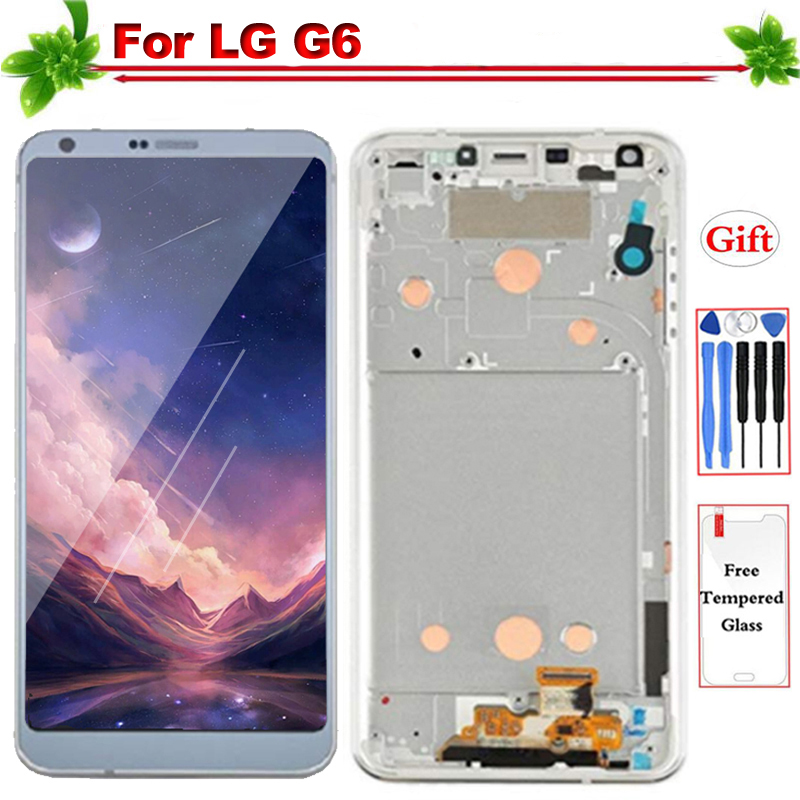 LCD for LG G6 H870 H871 H872 H873 LCD Display with Frame IPS Touch Screen  Digitizer Assembly for LG G6 Display Replacement