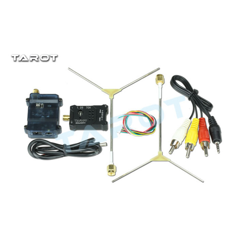 Tarot TL300N5 1.2G 600MW AV Wireless Wiring Transmitter Receiver TX RX Set with 1.2G Antenna for FPV eachine ts5840 upgraded 40ch 5 8g 200mw wireless av transmitter tx for fpv multicopter
