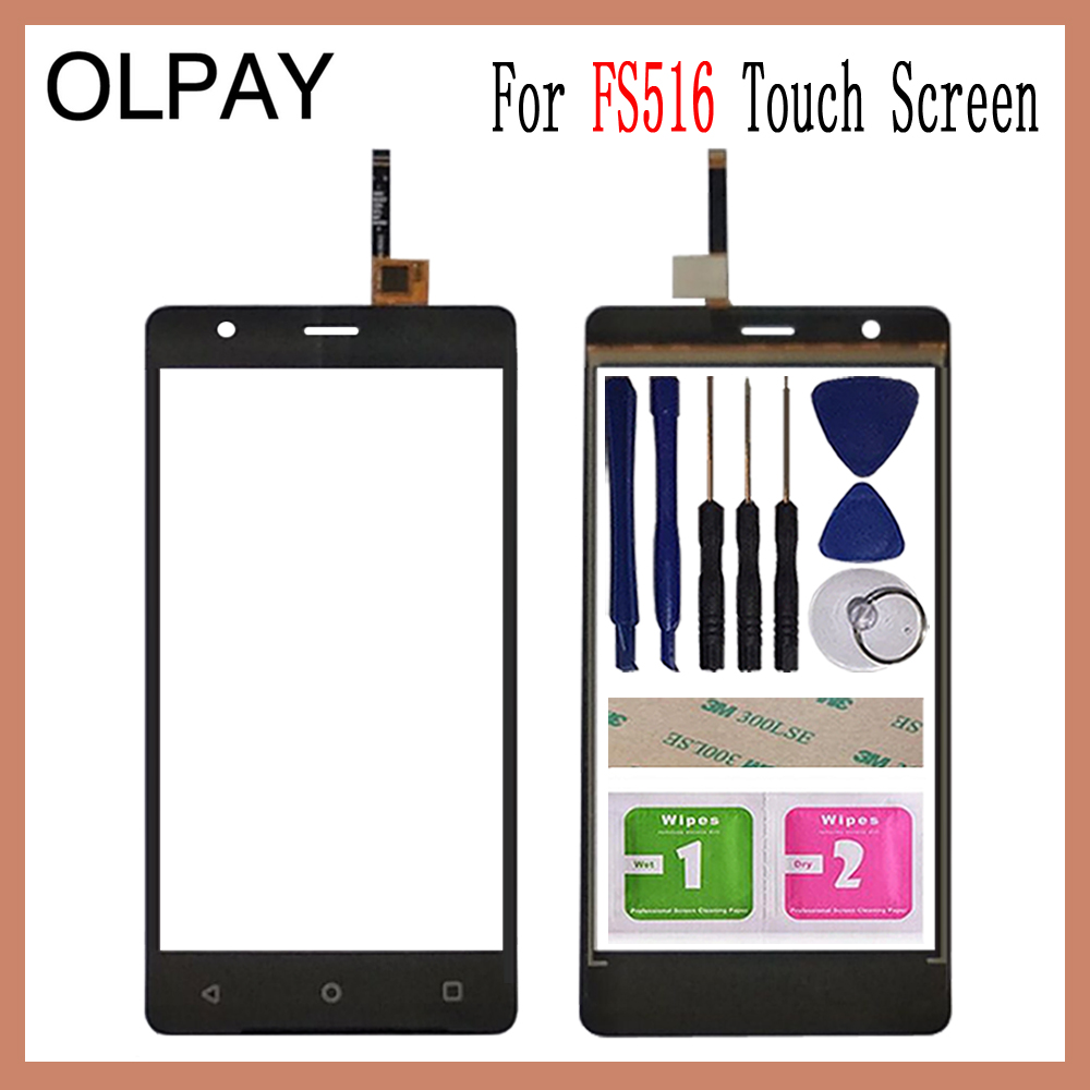 OLPAY 5.0'' Touch Screen For Fly Cirrus 12 FS516 FS 516 Touch Panel Glass Sensor Touchscreen Replacement Free Adhesive+Wipes