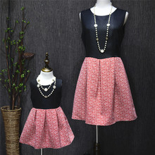 Plus size fashion family parent-child one-piece dress princess dress clothes for mother and daughter