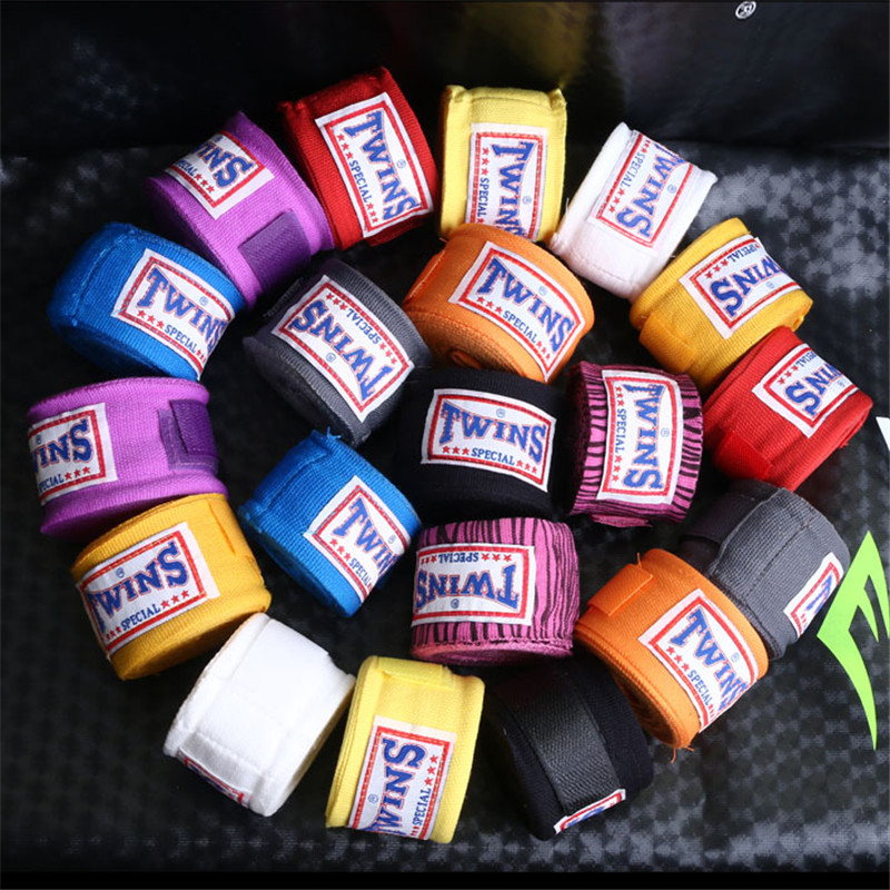 1 Pair 5M Cotton muay thai bandage wrist kick boxing wraps straps sports Sanda Taekwondo Hand Gloves
