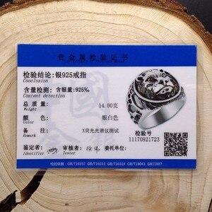 Image 5 - ZABRA 100% Реальное Твердое серебряное кольцо 925 мужское кольцо с Львом Винтажное кольцо в стиле стимпанк Ретро Байкерская бижутерия из стерлингового серебра мужское ювелирное изделие