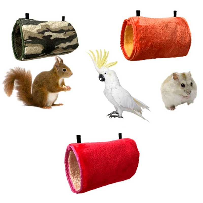 Gaiola de Hamster quente Cor Aleatória de Pelúcia Esquilo Cobaia Rede com Cadeia Confortável Balanço Túnel Hamster Brinquedo