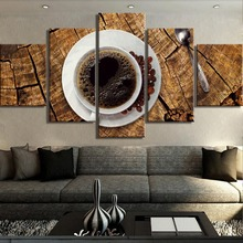 Coffee Landscape Canvas Wall Art Home Decor For Living Room Paintings on for Decorations Artwork