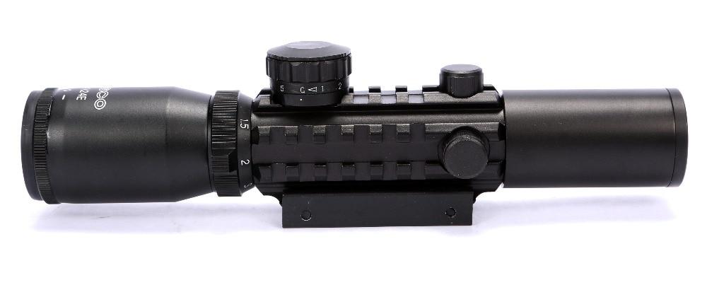 1-4X24 E Rail Red Green Illuminated Tactical Optics Hunting Shooting Rifle Scope Telescopic Gunsight Riflescope China air Rifle цена