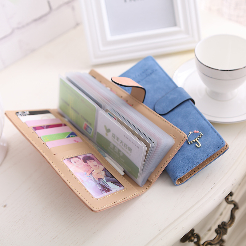 Coloffice  new Korean version lovely PU card holder kawaii large capacity 55 card ladies card package ladies card package