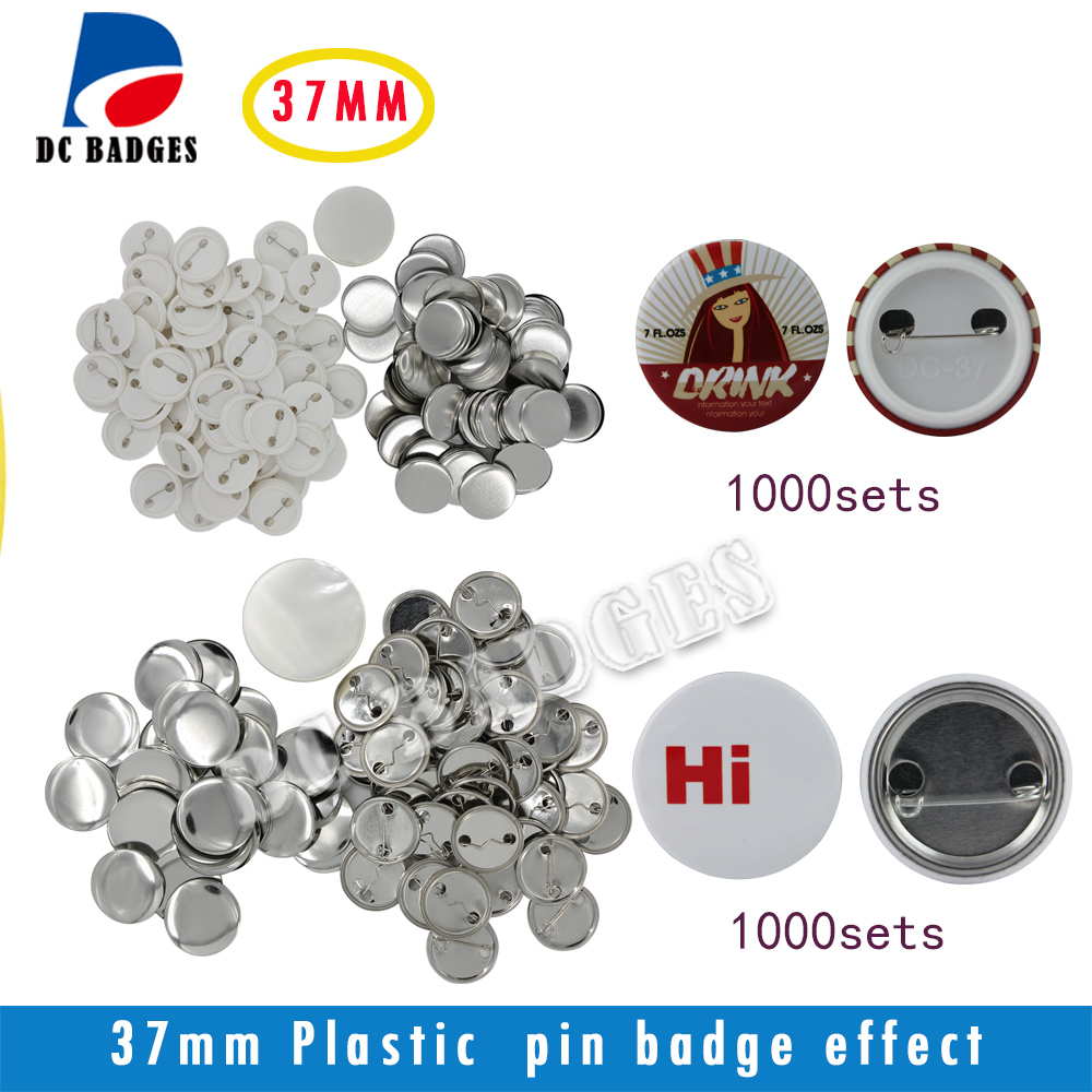 Free Shipping  1.5 37mm total 2000sets  Metal Pinback and Plastic Pinback Button Material Supplies free shipping 44mm 200 sets magnet buttons material