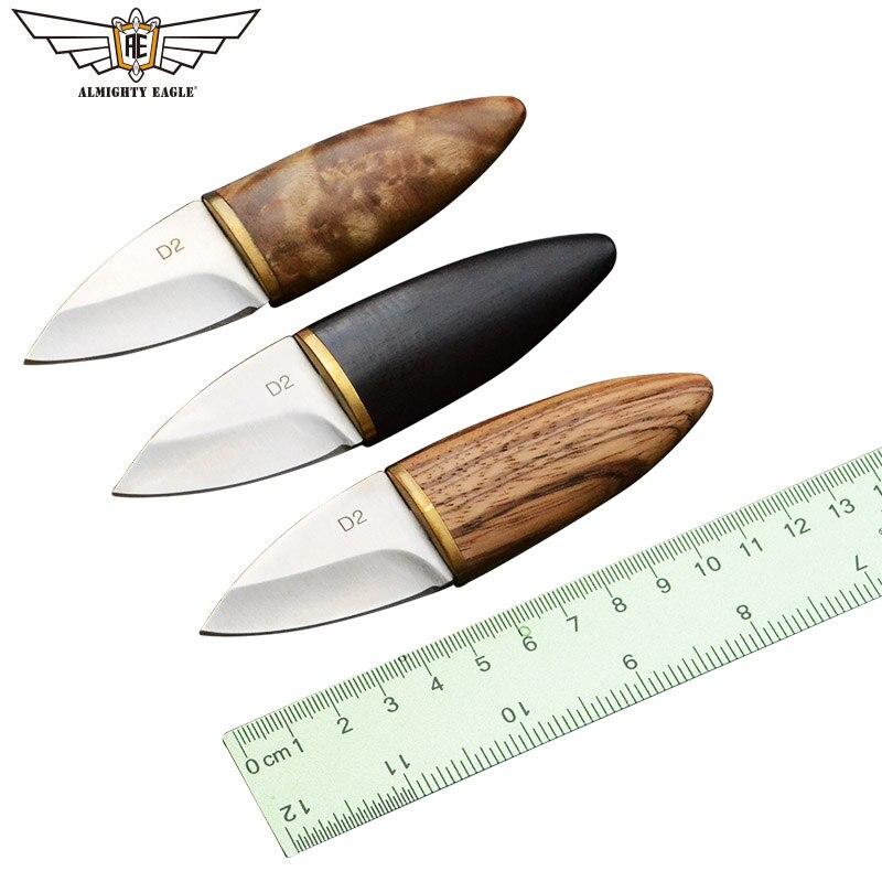 Mini cuchillo de hoja recta de águila todopoderosa cuchillo de mango de madera cuchillos de acero inoxidable EDC herramientas supervivencia caza Camping al aire libre herramienta