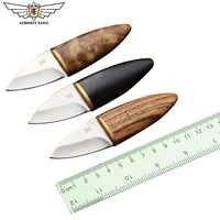 Wszechmogący orzeł Mini proste ostrze nóż z drewnianym uchwytem noże ze stali nierdzewnej narzędzia edc Survival polowanie terenowe narzędzie kempingowe