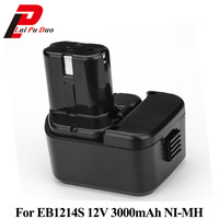 For Hitachi 12V 3.0Ah NI MH EB1214S Batteries Rechargeable Power Tool Battery For DS12DVF3 EB1212S EB1214L EB1214S EB1220BL