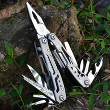 Multifunctional Combination Plier Pocket Multitool Stainless Steel Folding Knife Outdoor Camping Utility Kitchen Scissors Tool