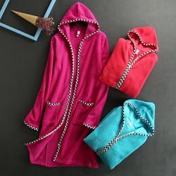 ZDFURS suave de lana de invierno de las mujeres de moda suelta trim full body cremallera diseño lounge robe mujer cómodo camisón térmico