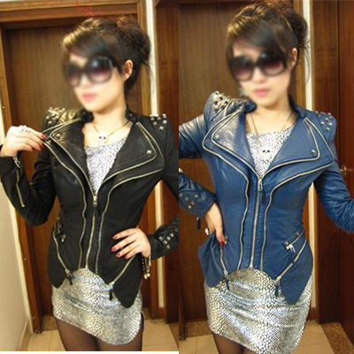 2013 New Fashion Girl Lady Women Zipped 80s Heavy Metal Punk Rock