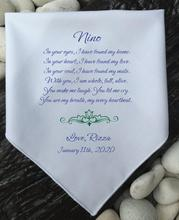 Wedding handkerchiefs DIY handkerchiefs a gift for parents a gift from dad elisa a carlucci a common bond uniting parents for positive change