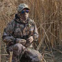 Hiver chaud polaire 3D Bionic Camouflage chasse Ghillie costumes tactique randonnée pêche vêtements hommes imperméable veste pantalon à capuche