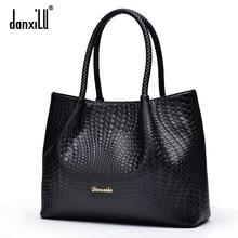 Danxilu Berühmte marke Aus Echtem Leder Handtaschen Damen Beiläufige Schulterbeutel tote Frauen umhängetasche bolsa feminina