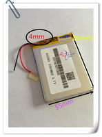 Wholesale 10pcs Lot 405585 Lithium Polymer Battery 3 7V 2500mAh Li Ion Rechargeable Accumulator For Mobile