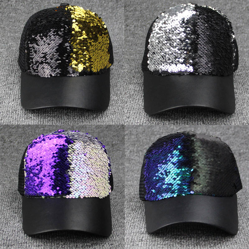 Aliexpress.com   Buy Amazing sequined baseball cap Snapback Cap Cotton Baseball  Cap For Men Women Male s Hip Hop Cap Dad Hat Bone Fashion wholesale from ... 052e12b6a31a