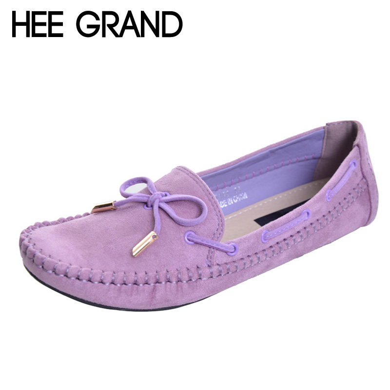 HEE GRAND Casual Bowtie Loafers Sweet Candy Colors Women Flats Solid Summer Style Shoes Woman 4 Colors Plus Size 35-41 XWD2263 plus size 34 41 black khaki lace bow flats shoes for womens ds219 fashion round toe bowtie sweet spring summer fall flats shoes