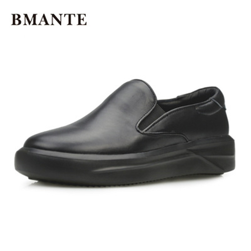 Luxury Trainers Summer Male Adult Casual Slip-On Flats Spring Black Shoes Height Increasing Men Genuine Leather Boat Shoes цена 2017