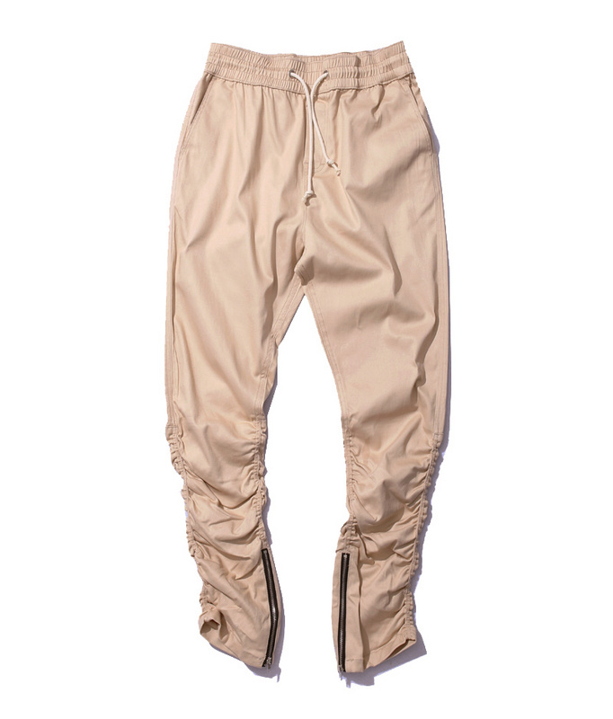 real quality special discount most popular US $25.06 24% OFF|Khaki Jogger Pants Casual Skinny Zipper Bottom Sweatpants  Hip Hop Trousers streetwear Men's Pants Men Slimming Pants for Men-in ...