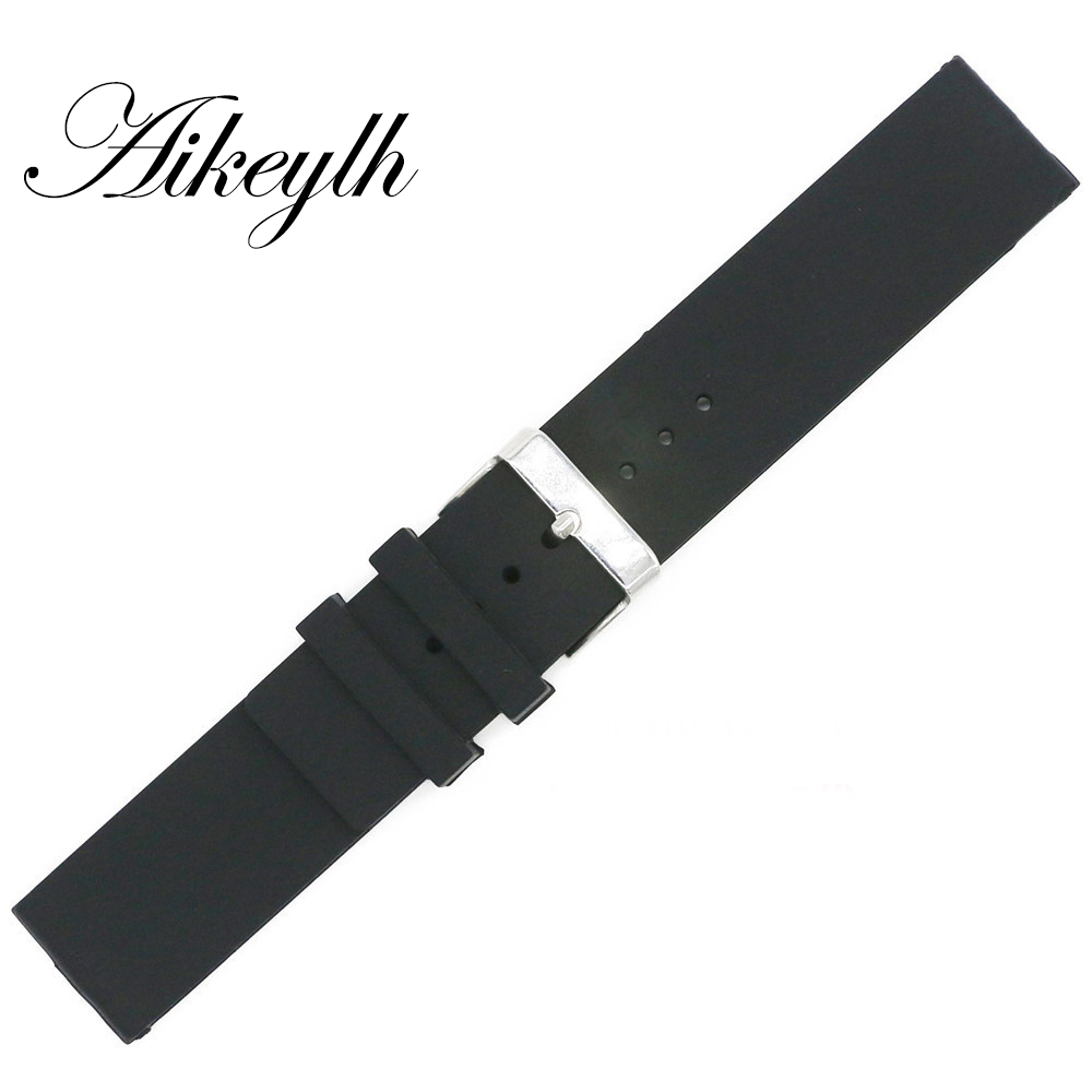 18mm Watchband for <font><b>moto</b></font> <font><b>360</b></font> Smooth surfac Silicone Rubber <font><b>Band</b></font> Sports Watch Straps Replace Electronic Wristwatch Belt Watch image